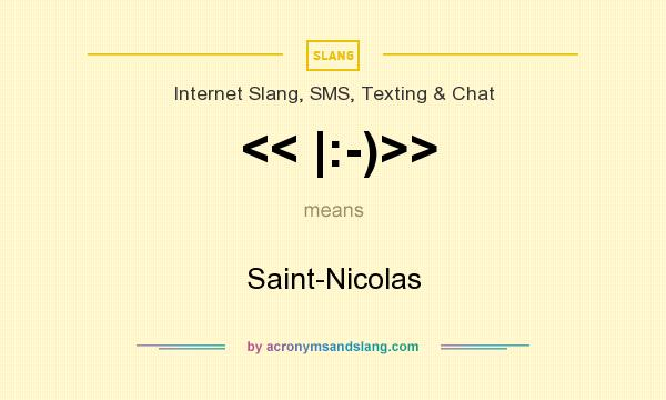 What does << |:-)>> mean? It stands for Saint-Nicolas