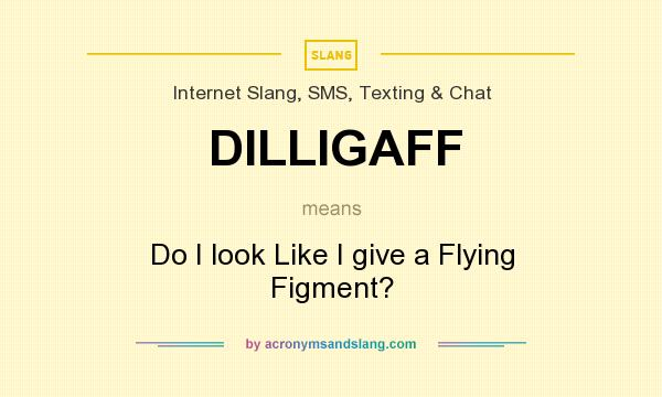 What does DILLIGAFF mean? It stands for Do I look Like I give a Flying Figment?