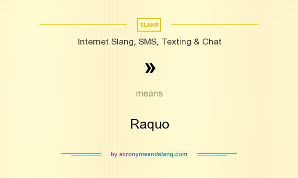 What does » mean? It stands for Raquo