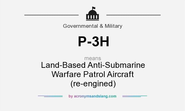 What does P-3H mean? It stands for Land-Based Anti-Submarine Warfare Patrol Aircraft (re-engined)