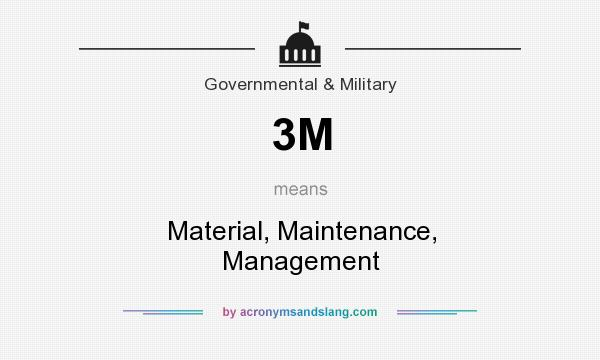 What does 3M mean? It stands for Material, Maintenance, Management