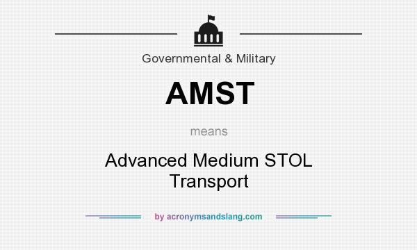 What does AMST mean? It stands for Advanced Medium STOL Transport