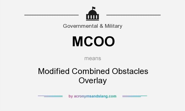 MCOO - Modified Combined Obstacles Overlay in Governmental