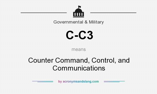 What does C-C3 mean? It stands for Counter Command, Control, and Communications