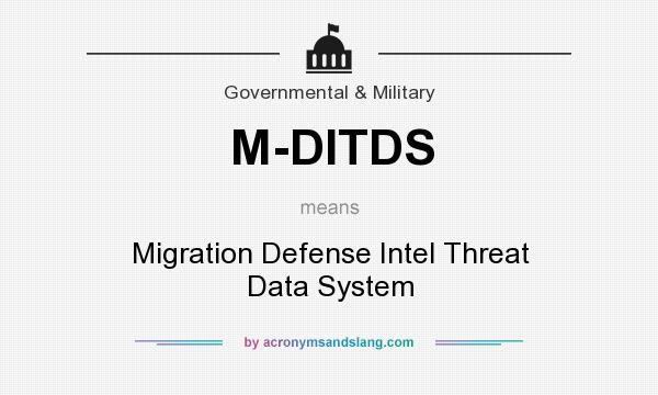 What does M-DITDS mean? It stands for Migration Defense Intel Threat Data System