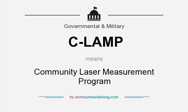What does C-LAMP mean? It stands for Community Laser Measurement Program