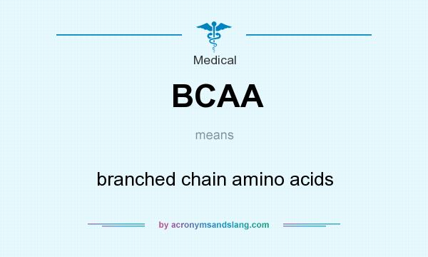 What does BCAA mean? It stands for branched chain amino acids