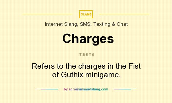 What does Charges mean? It stands for Refers to the charges in the Fist of Guthix minigame.