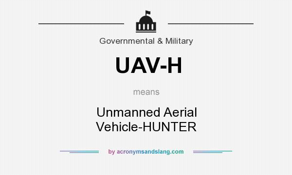 What does UAV-H mean? It stands for Unmanned Aerial Vehicle-HUNTER