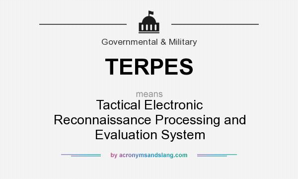 What does TERPES mean? It stands for Tactical Electronic Reconnaissance Processing and Evaluation System