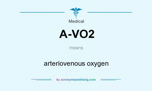 What does A-VO2 mean? It stands for arteriovenous oxygen