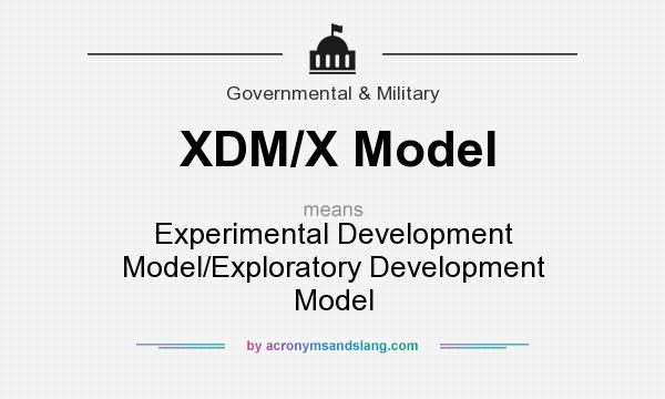 What does XDM/X Model mean? It stands for Experimental Development Model/Exploratory Development Model