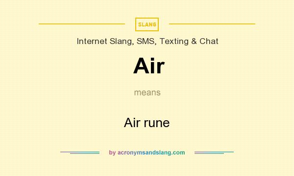 What does Air mean? It stands for Air rune