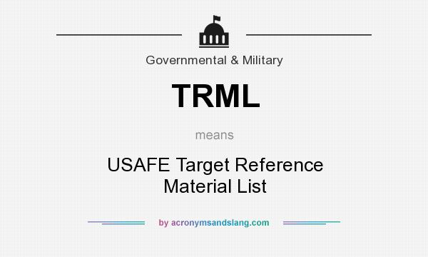 What does TRML mean? It stands for USAFE Target Reference Material List