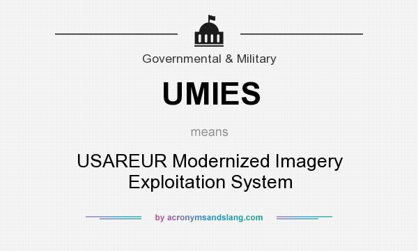What does UMIES mean? It stands for USAREUR Modernized Imagery Exploitation System