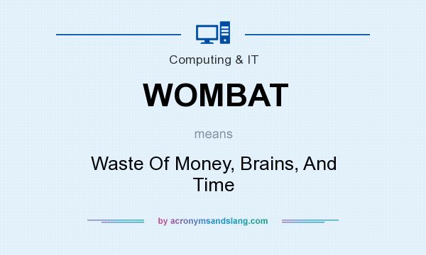 What does WOMBAT mean? It stands for Waste Of Money, Brains, And Time