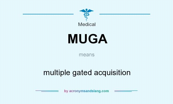 What does MUGA mean? It stands for multiple gated acquisition