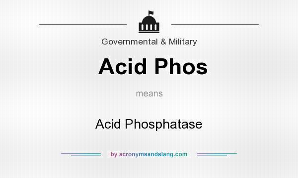What does Acid Phos mean? It stands for Acid Phosphatase