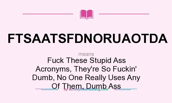 Acronym Of Fuck 114