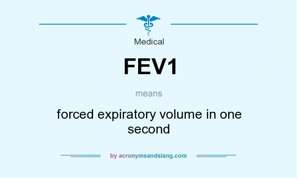 What does FEV1 mean? It stands for forced expiratory volume in one second