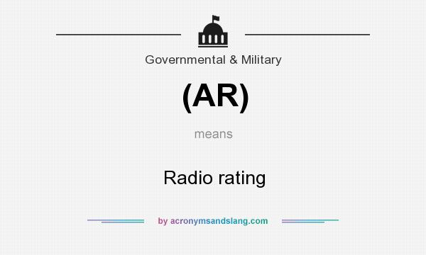 What does (AR) mean? It stands for Radio rating