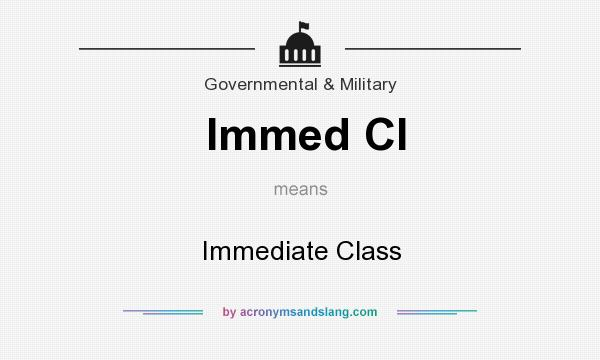 What does Immed Cl mean? It stands for Immediate Class