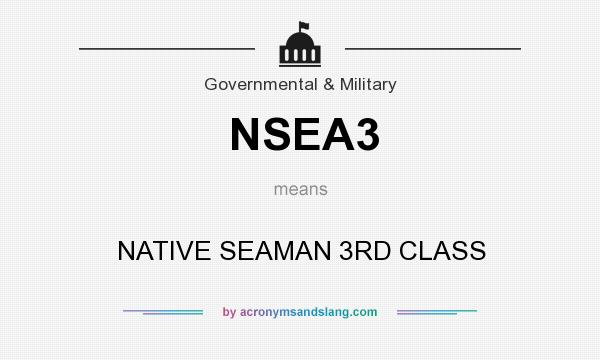 What does NSEA3 mean? It stands for NATIVE SEAMAN 3RD CLASS