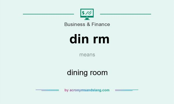 What does din rm mean? It stands for dining room