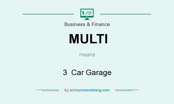 What does MULTI mean? It stands for 3  Car Garage