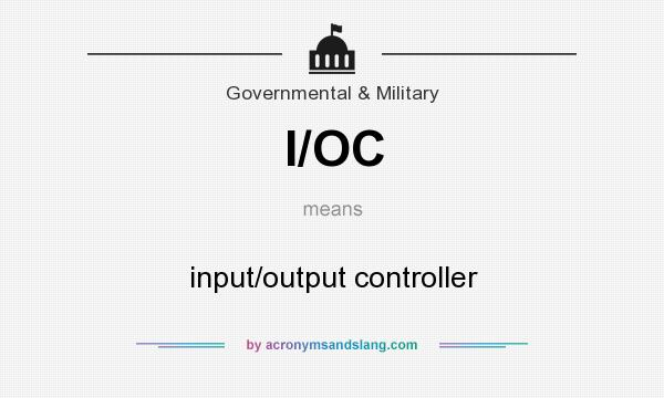 What does I/OC mean? It stands for input/output controller