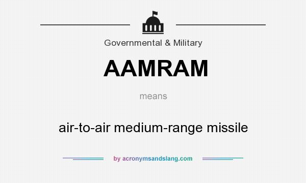 What does AAMRAM mean? It stands for air-to-air medium-range missile