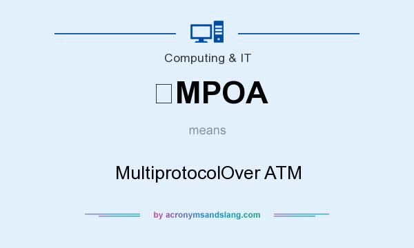 What does MPOA mean? It stands for MultiprotocolOver ATM