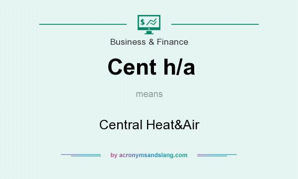 What does Cent h/a  mean? It stands for Central Heat&Air