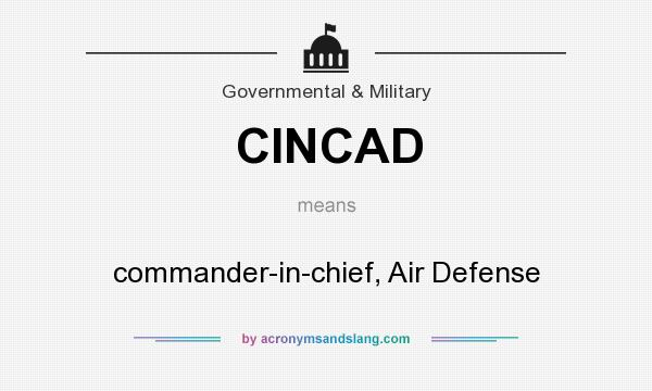 What does CINCAD mean? It stands for commander-in-chief, Air Defense