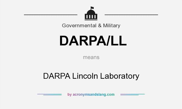 What does DARPA/LL mean? It stands for DARPA Lincoln Laboratory