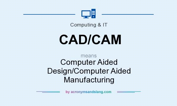 What does CAD/CAM mean? It stands for Computer Aided Design/Computer Aided Manufacturing
