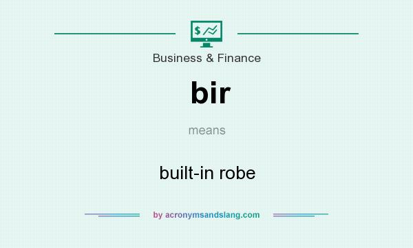 What does bir mean? It stands for built-in robe