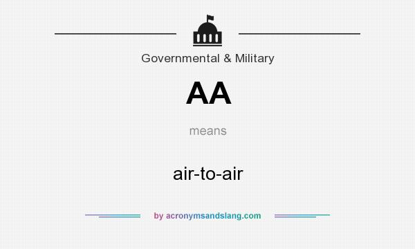 What does AA mean? It stands for air-to-air