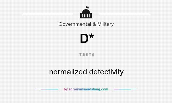 What does D* mean? It stands for normalized detectivity