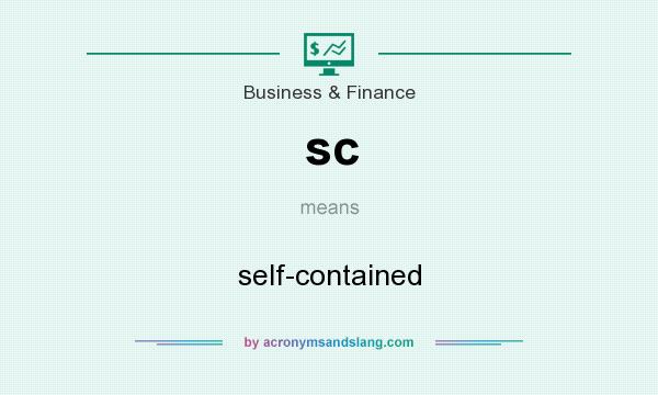 What does sc mean? It stands for self-contained