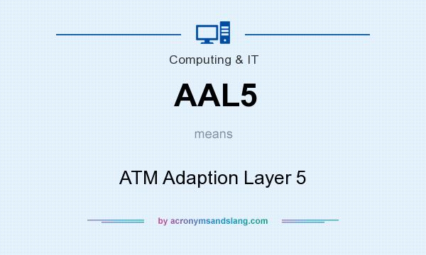 What does AAL5 mean? It stands for ATM Adaption Layer 5