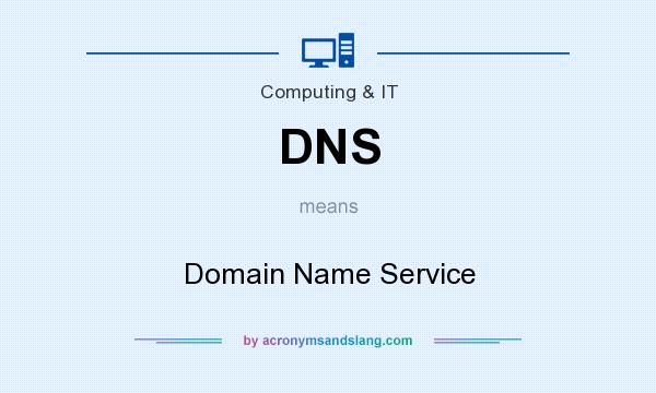 What does DNS mean? It stands for Domain Name Service
