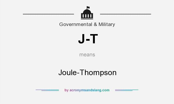 What does J-T mean? It stands for Joule-Thompson