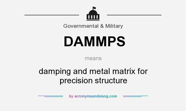 What does DAMMPS mean? It stands for damping and metal matrix for precision structure