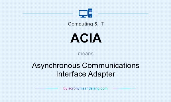 What does ACIA mean? It stands for Asynchronous Communications Interface Adapter