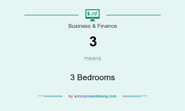What does 3 mean? It stands for 3 Bedrooms