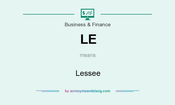 What does LE mean? It stands for Lessee