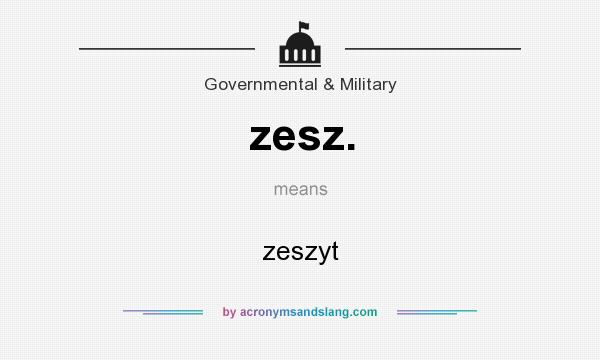 What does zesz. mean? It stands for zeszyt