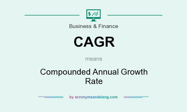 What does CAGR mean? It stands for Compounded Annual Growth Rate