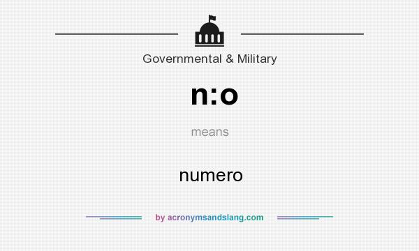 What does n:o mean? It stands for numero
